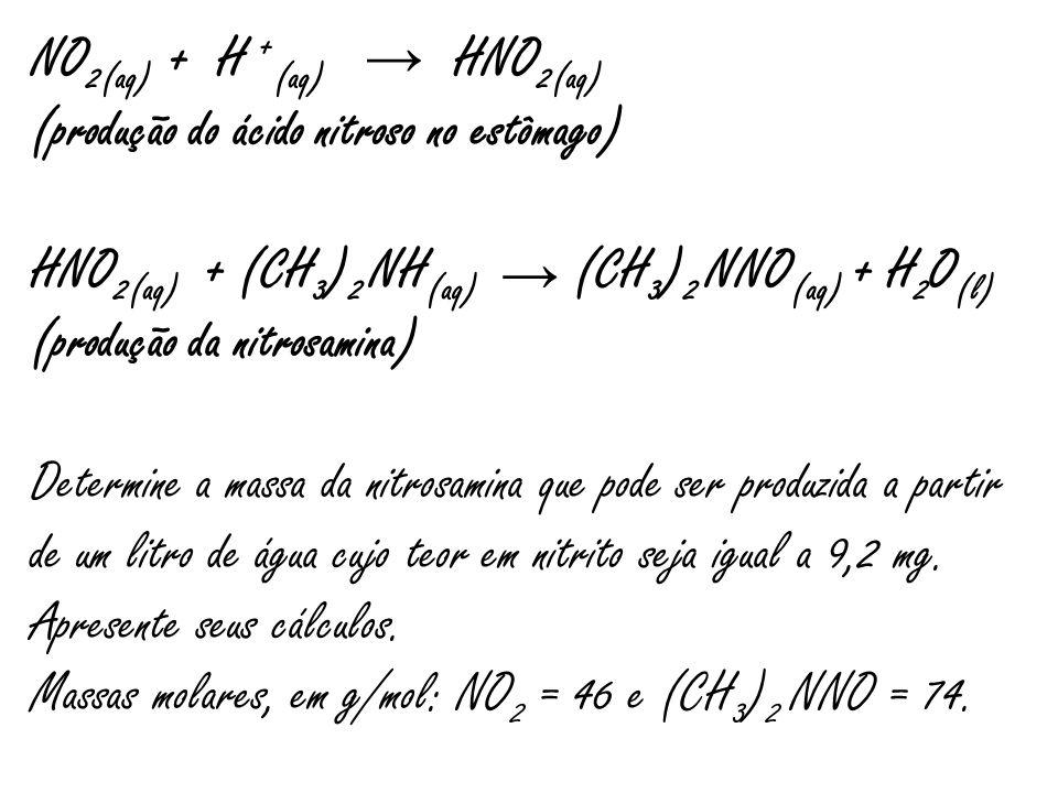 NO2(aq) + H +(aq) HNO2(aq)