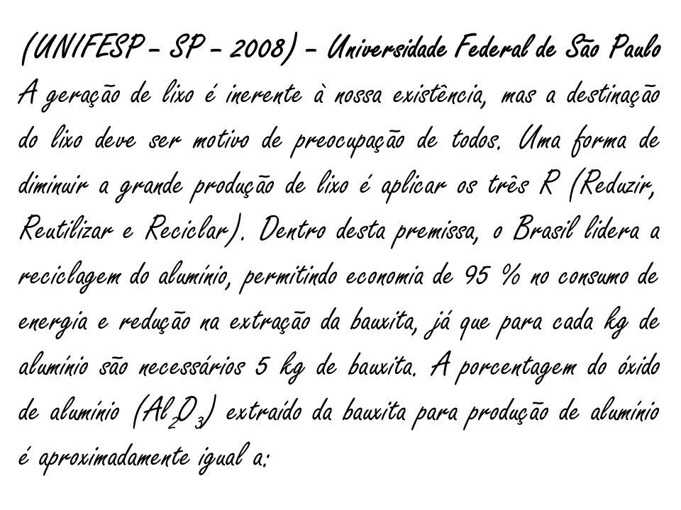 (UNIFESP – SP – 2008) – Universidade Federal de São Paulo
