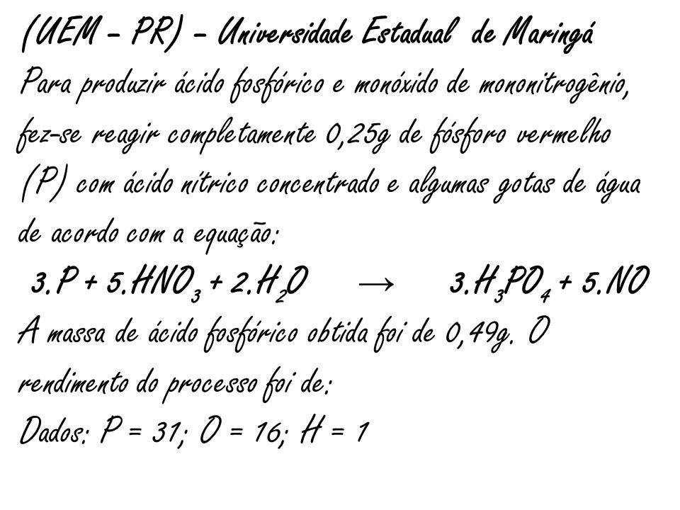 (UEM – PR) – Universidade Estadual de Maringá