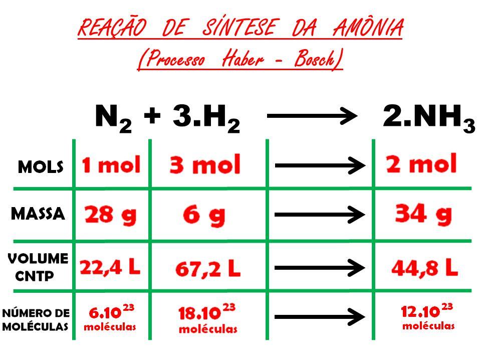 REAÇÃO DE SÍNTESE DA AMÔNIA (Processo Haber - Bosch)