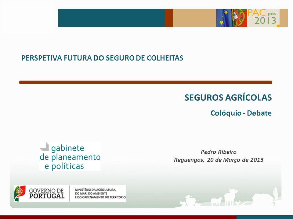 SEGUROS AGRÍCOLAS PERSPETIVA FUTURA DO SEGURO DE COLHEITAS
