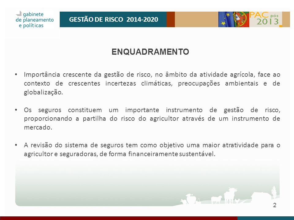 GESTÃO DE RISCO 2014-2020 ENQUADRAMENTO.