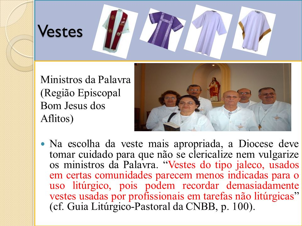 Vestes Ministros da Palavra (Região Episcopal Bom Jesus dos Aflitos)