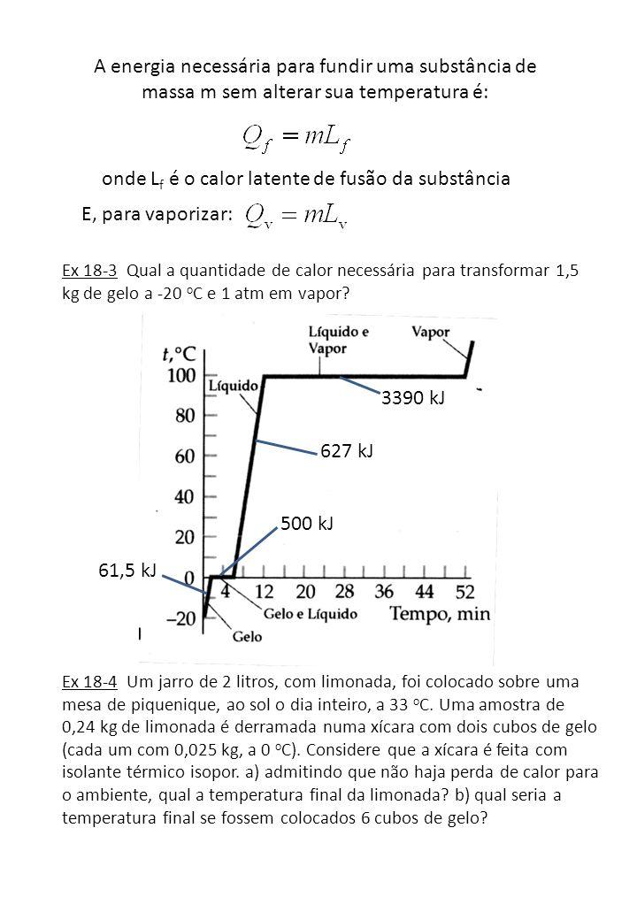 onde Lf é o calor latente de fusão da substância