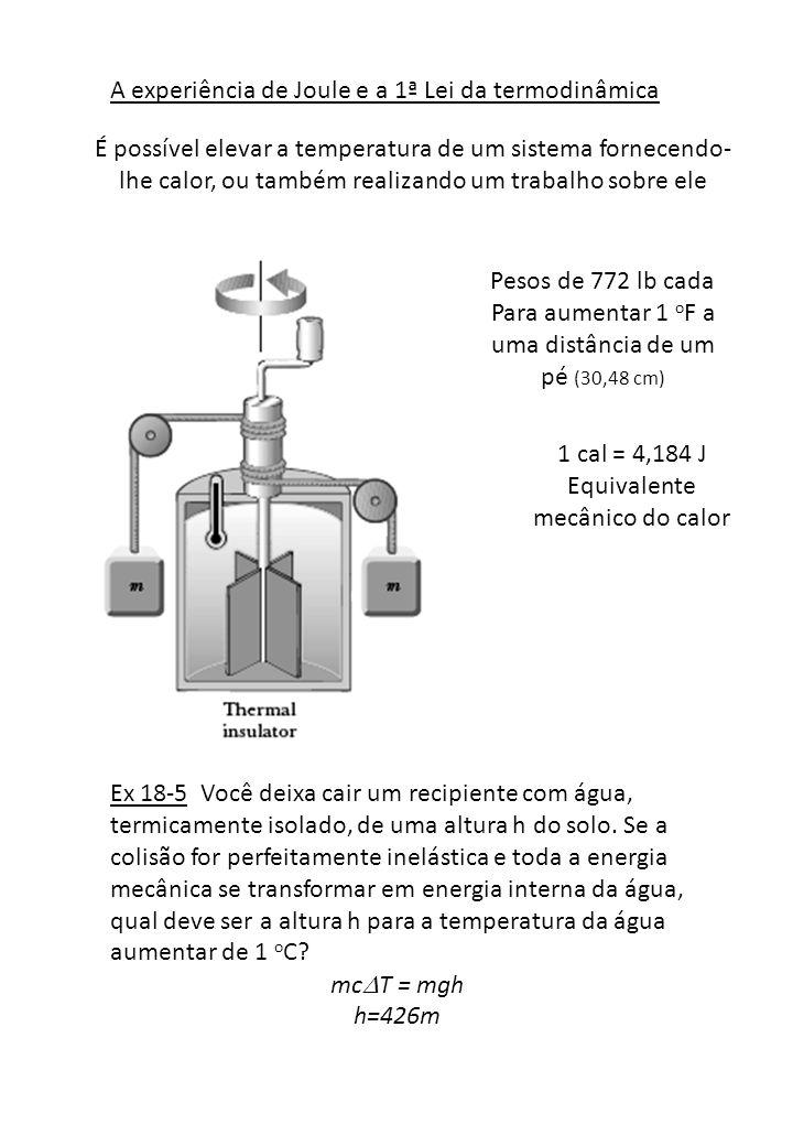 A experiência de Joule e a 1ª Lei da termodinâmica