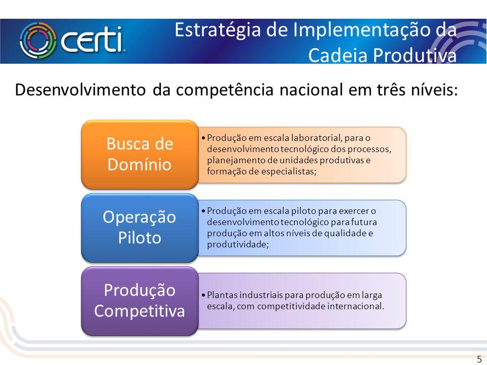 Estratégia de Implementação da Cadeia Produtiva