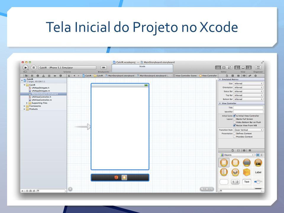 Tela Inicial do Projeto no Xcode