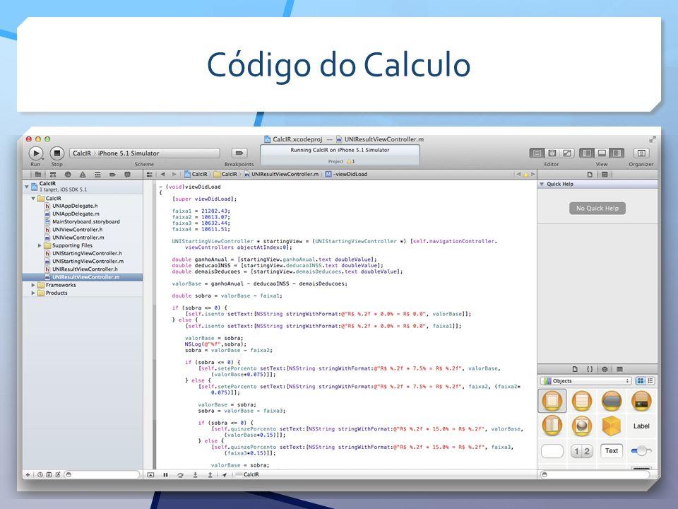 Código do Calculo