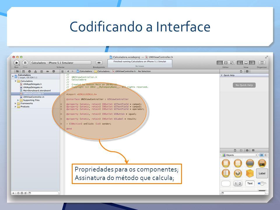 Codificando a Interface