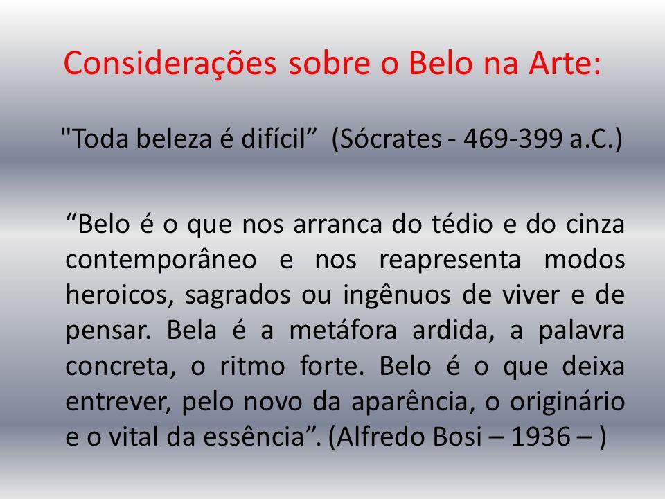 Considerações sobre o Belo na Arte: