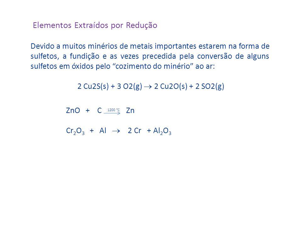2 Cu2S(s) + 3 O2(g)  2 Cu2O(s) + 2 SO2(g)