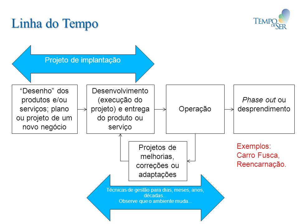 Linha do Tempo Projeto de implantação