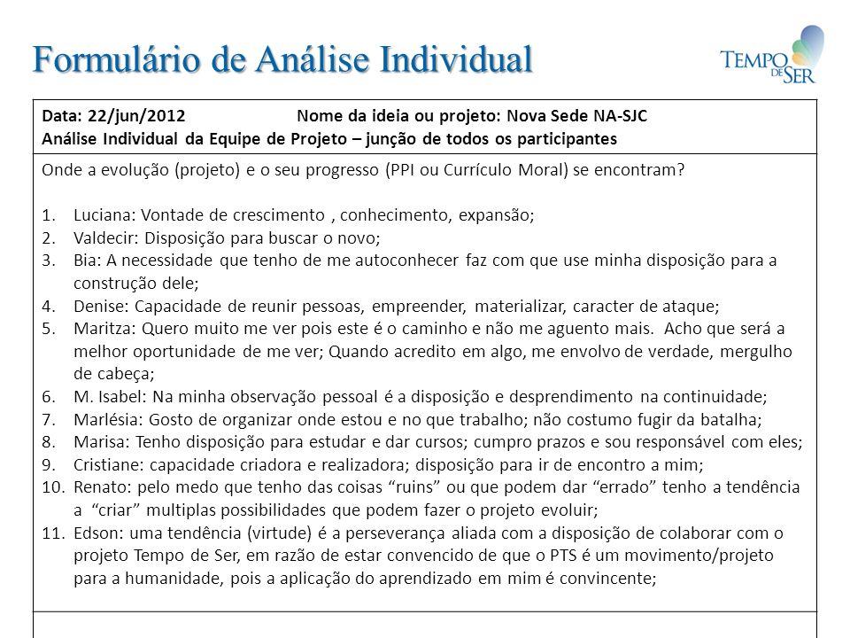 Formulário de Análise Individual
