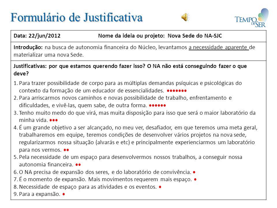 Formulário de Justificativa