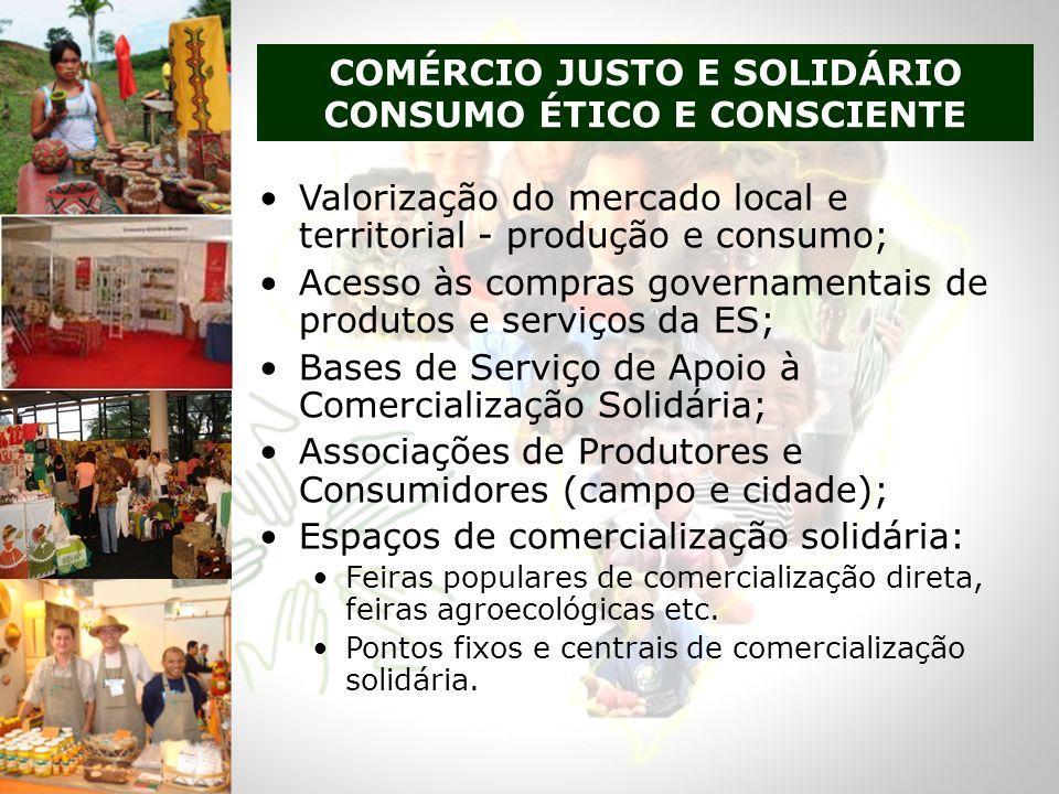 COMÉRCIO JUSTO E SOLIDÁRIO CONSUMO ÉTICO E CONSCIENTE