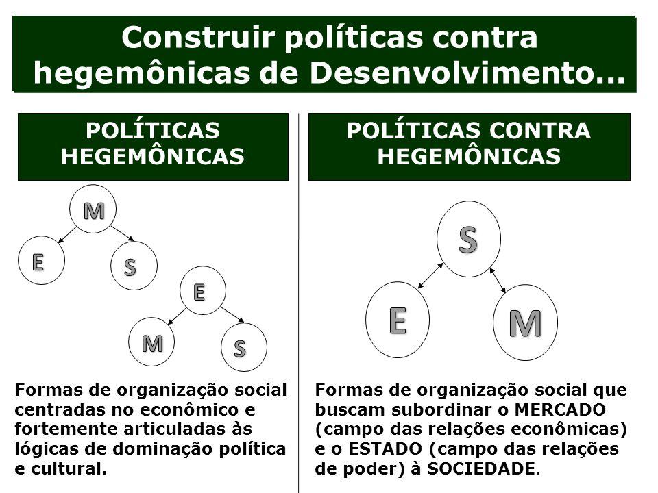 S E M Construir políticas contra hegemônicas de Desenvolvimento... M E