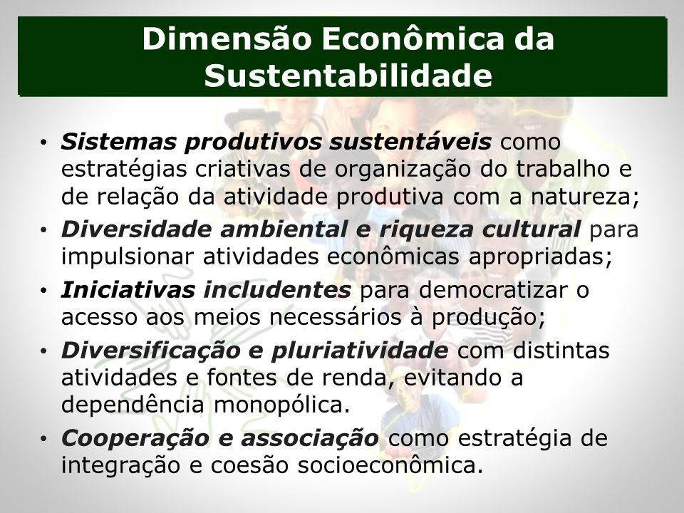 Dimensão Econômica da Sustentabilidade