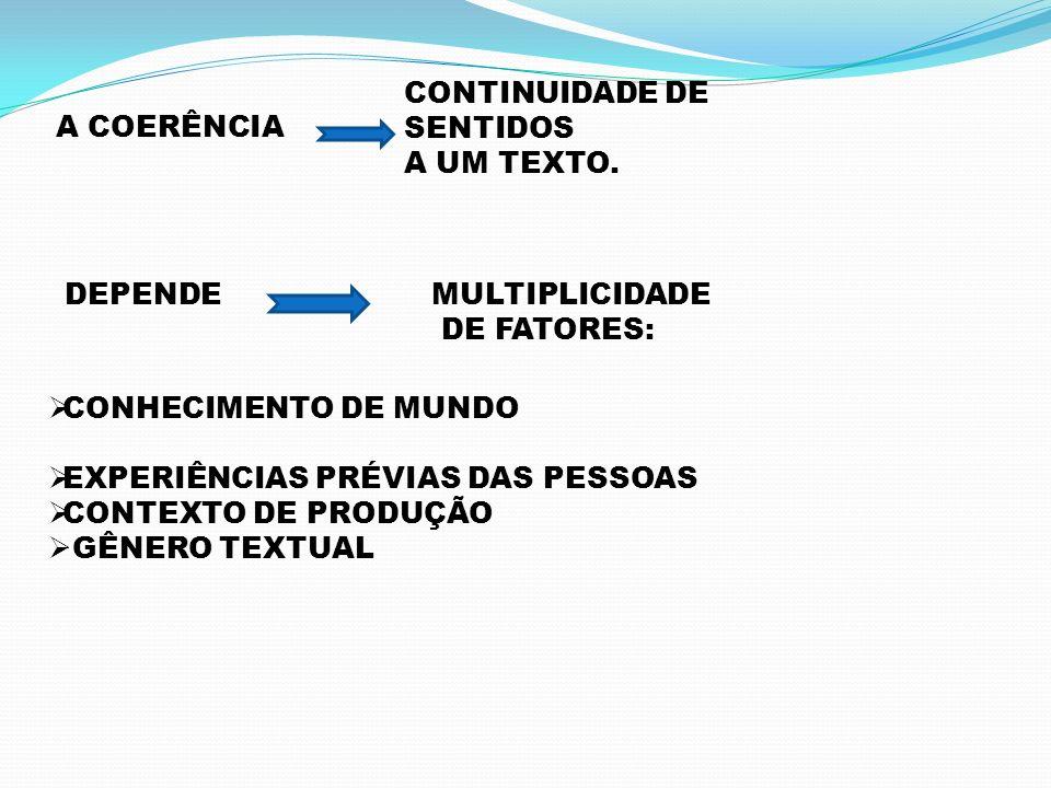 CONTINUIDADE DE SENTIDOS