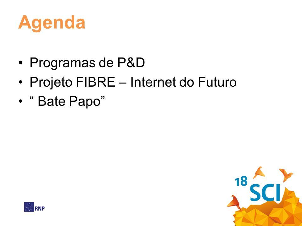 Agenda Programas de P&D Projeto FIBRE – Internet do Futuro