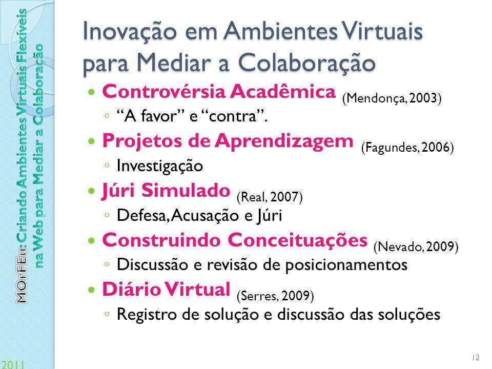 Inovação em Ambientes Virtuais para Mediar a Colaboração