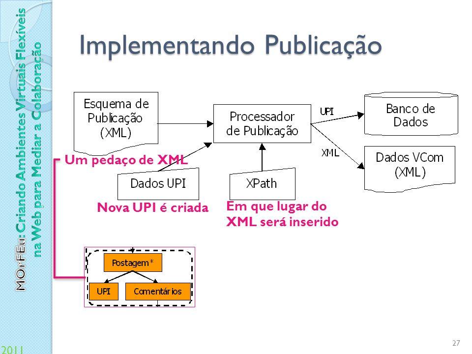 Implementando Publicação
