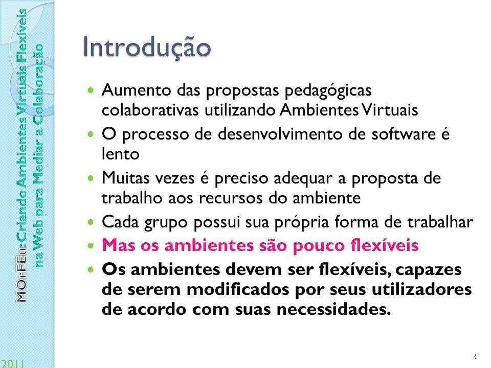 Introdução Aumento das propostas pedagógicas colaborativas utilizando Ambientes Virtuais. O processo de desenvolvimento de software é lento.