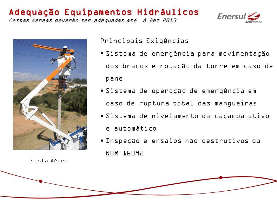 Adequação Equipamentos Hidráulicos