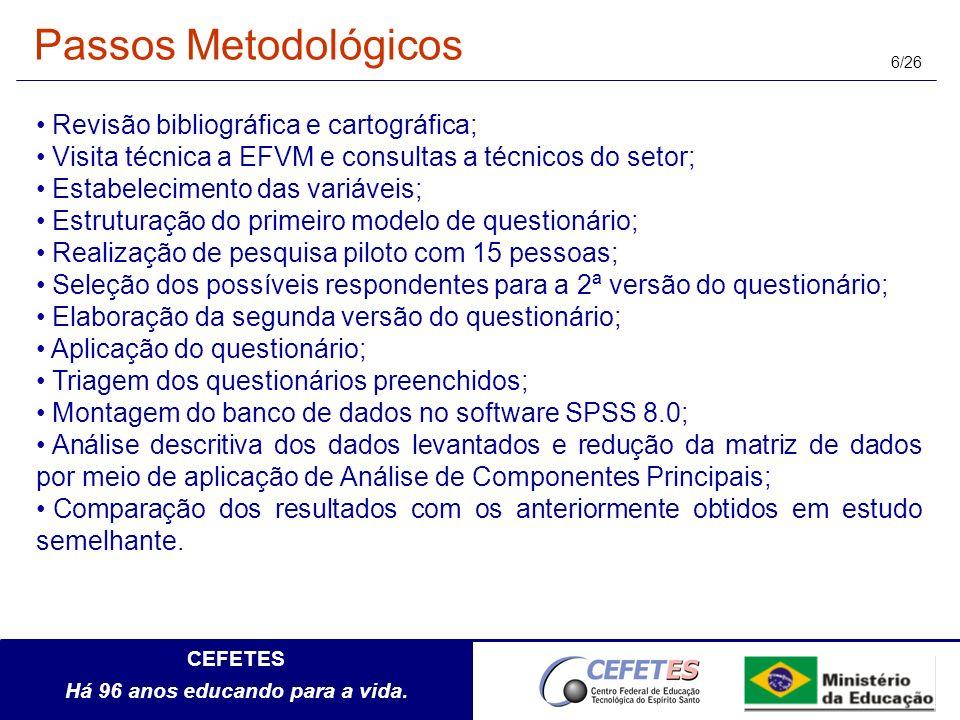 Passos Metodológicos Revisão bibliográfica e cartográfica;