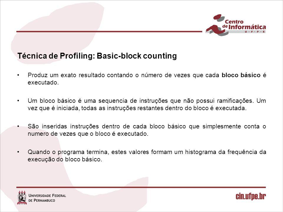 Técnica de Profiling: Basic-block counting
