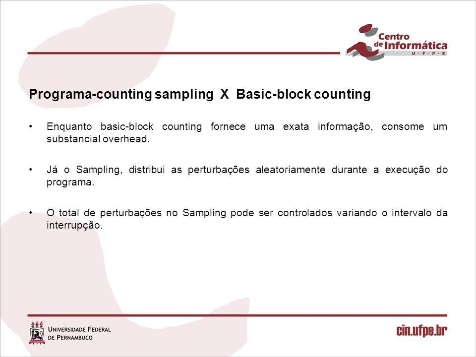 Programa-counting sampling X Basic-block counting