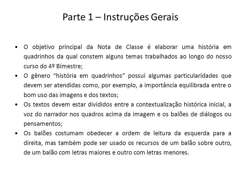 Parte 1 – Instruções Gerais