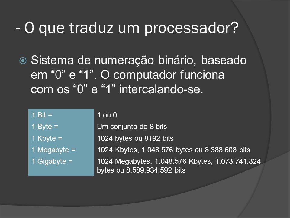- O que traduz um processador