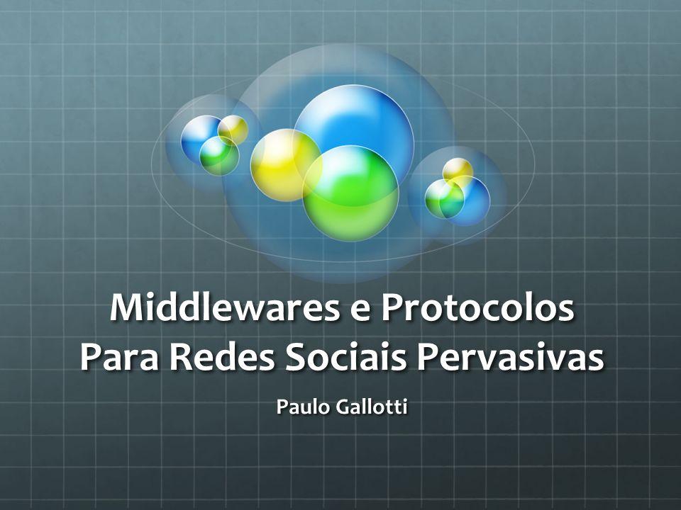 Middlewares e Protocolos Para Redes Sociais Pervasivas