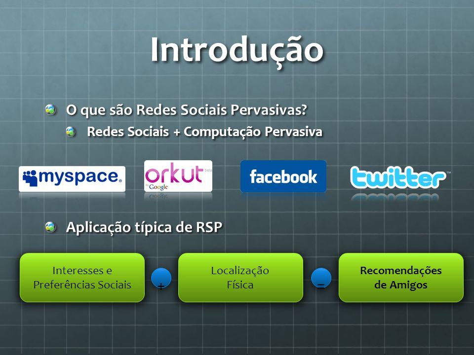 Introdução + = O que são Redes Sociais Pervasivas