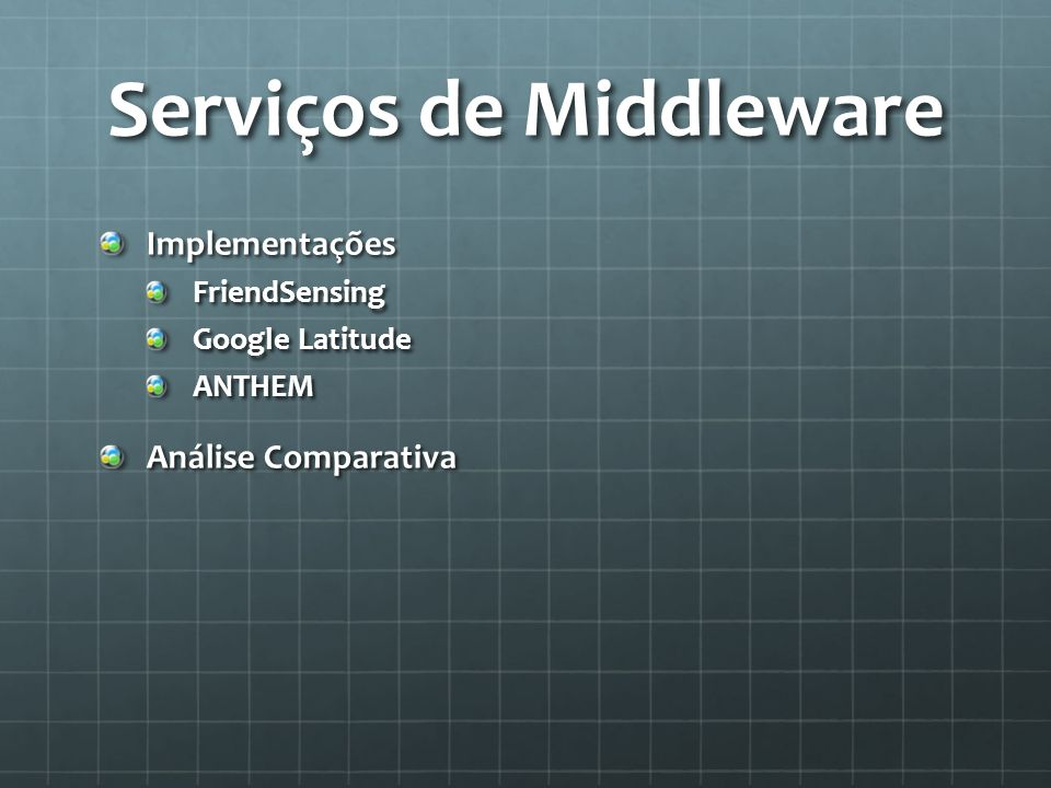 Serviços de Middleware