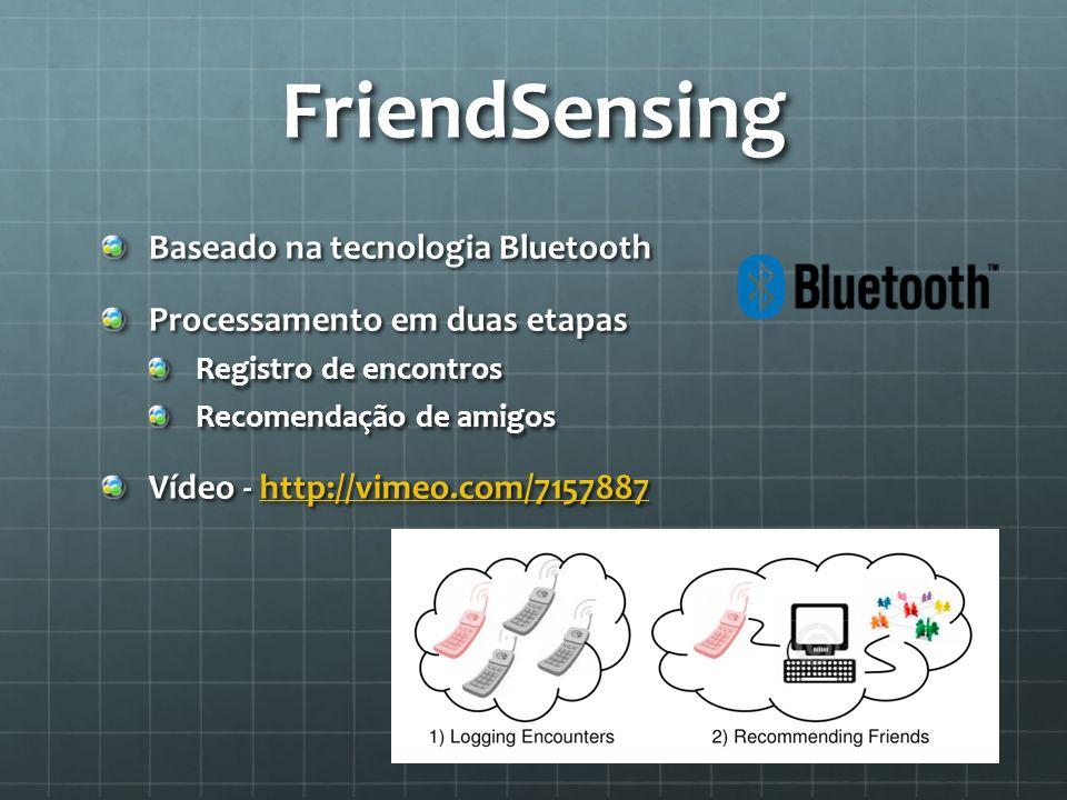 FriendSensing Baseado na tecnologia Bluetooth