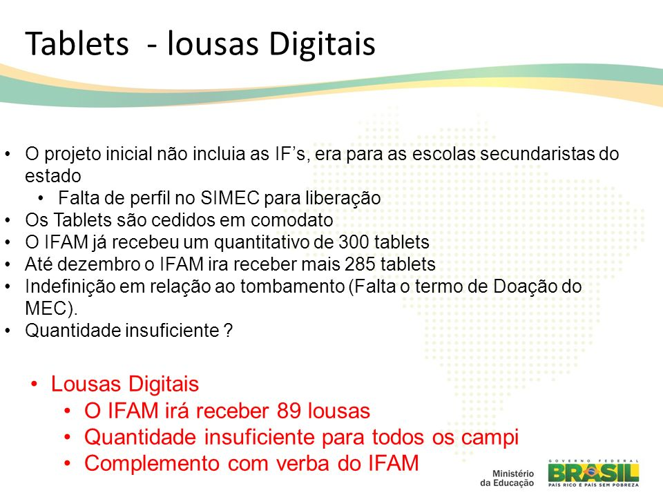 Tablets - lousas Digitais