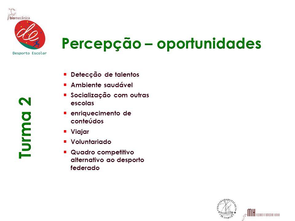 Percepção – oportunidades
