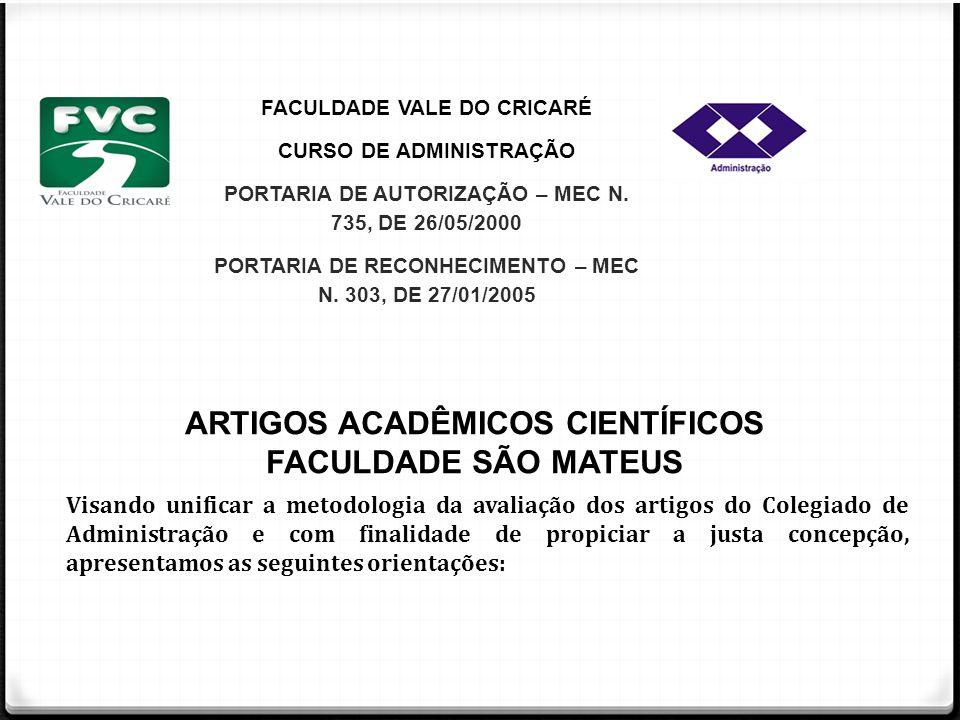 PORTARIA DE RECONHECIMENTO – MEC N. 303, DE 27/01/2005
