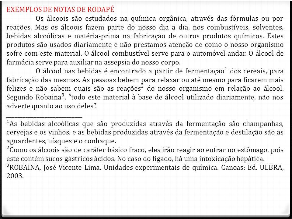 EXEMPLOS DE NOTAS DE RODAPÉ