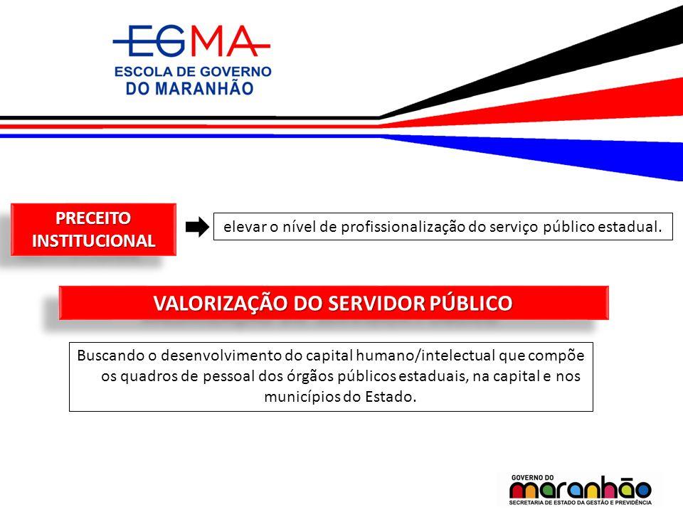 PRECEITO INSTITUCIONAL VALORIZAÇÃO DO SERVIDOR PÚBLICO