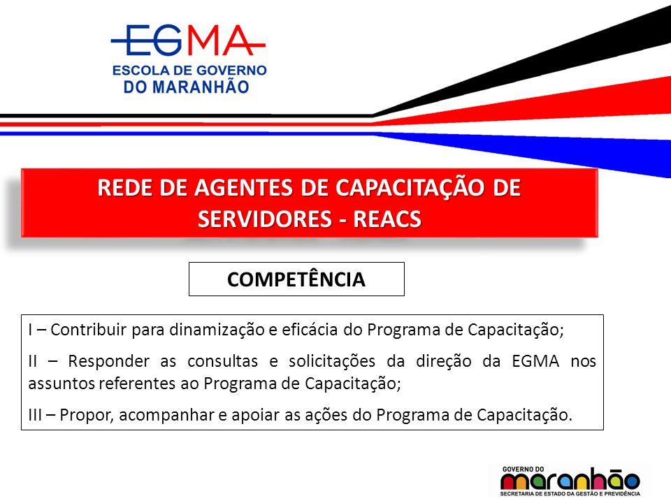REDE DE AGENTES DE CAPACITAÇÃO DE SERVIDORES - REACS