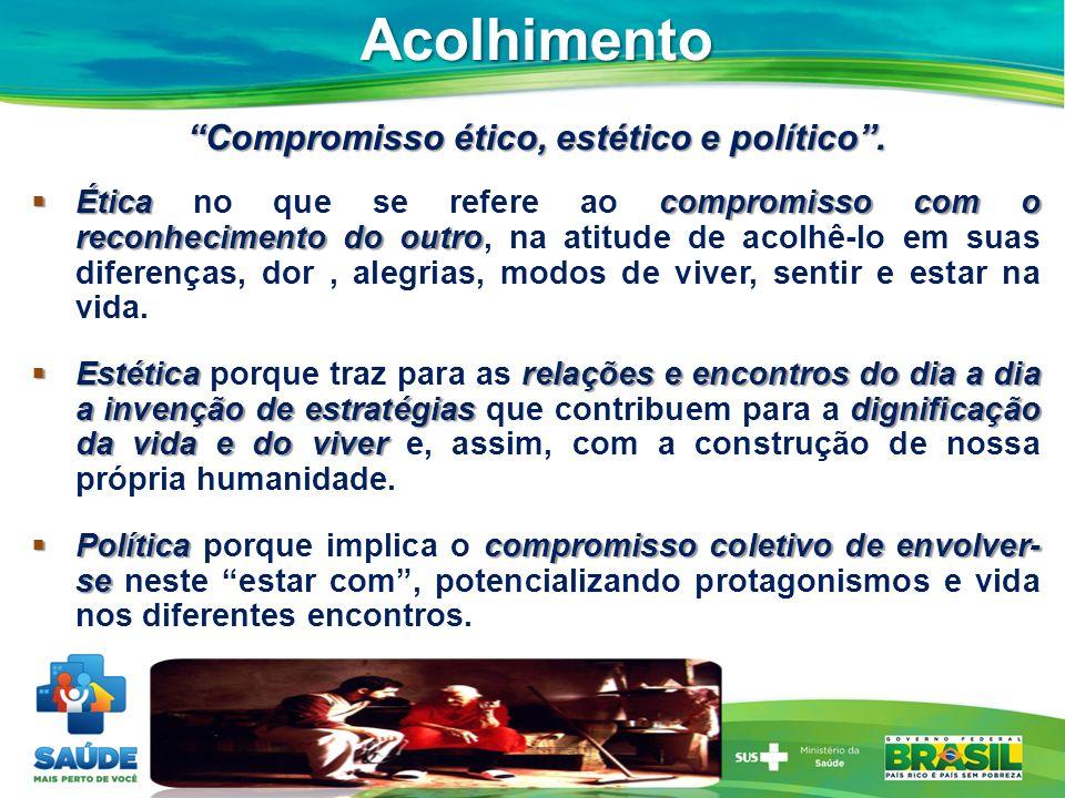 Compromisso ético, estético e político .