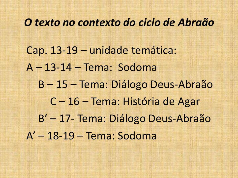 O texto no contexto do ciclo de Abraão