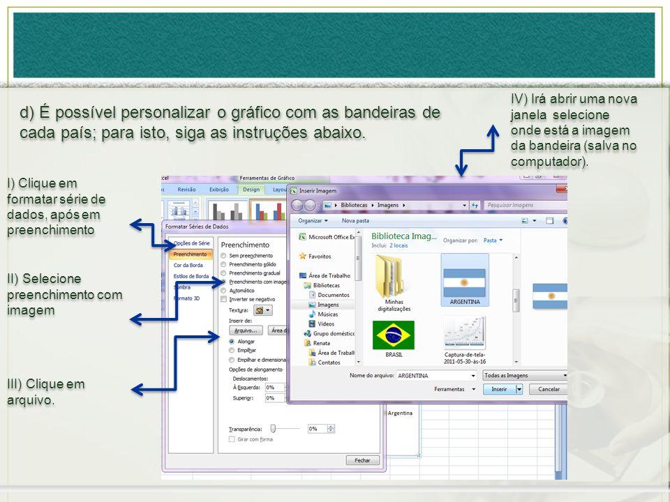 IV) Irá abrir uma nova janela selecione onde está a imagem da bandeira (salva no computador).