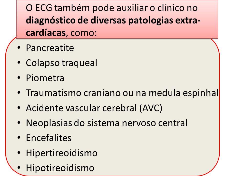 O ECG também pode auxiliar o clínico no diagnóstico de diversas patologias extra-cardíacas, como: