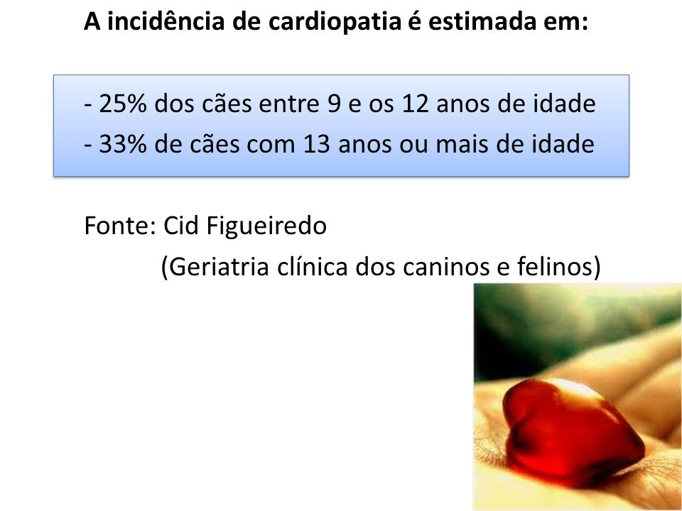 A incidência de cardiopatia é estimada em: