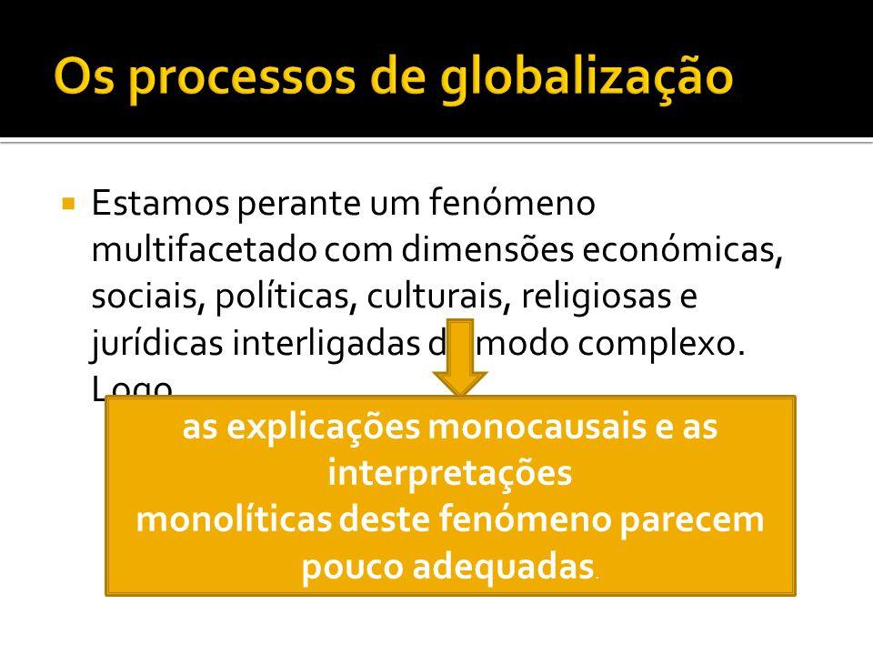 Os processos de globalização