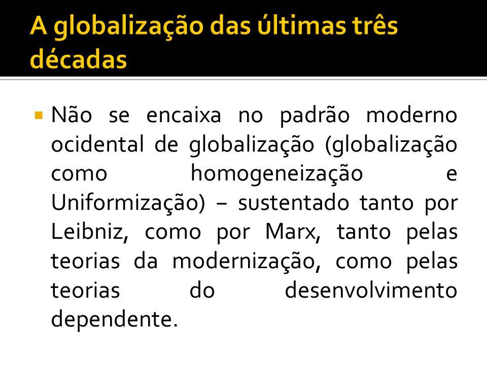 A globalização das últimas três décadas