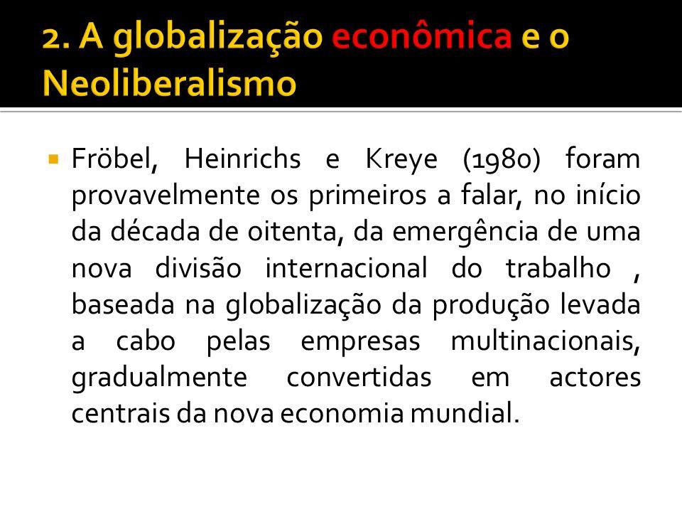 2. A globalização econômica e o Neoliberalismo
